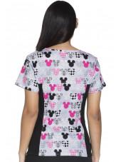 """Tunique médicale imprimée """"Mickey"""", Collection """"Tooniforms"""" (6875C)"""