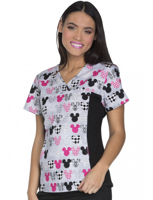 "Blouse médicale imprimée ""Mickey"", Collection ""Tooniforms"" (6875C)"
