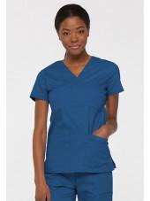 """Blouse médicale Cache Coeur Femme, Dickies, collection """"EDS signature"""" (85820), couleur bleu royal vue face"""