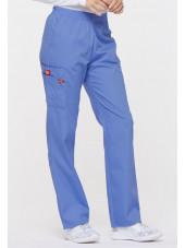 """Pantalon médical Unisexe élastique, Dickies, Collection """"EDS signature"""" (86106), couleur bleu ciel, vue droit"""