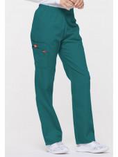 """Pantalon médical Unisexe élastique, Dickies, Collection """"EDS signature"""" (86106), couleur teal blue, vue droit"""
