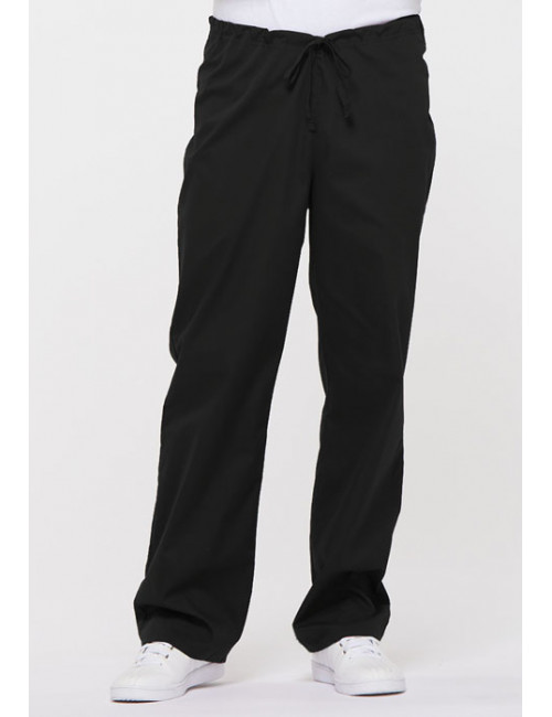 "Pantalon médical Unisexe Cordon, Dickies, Collection ""EDS signature"" (83006) noir vue face"