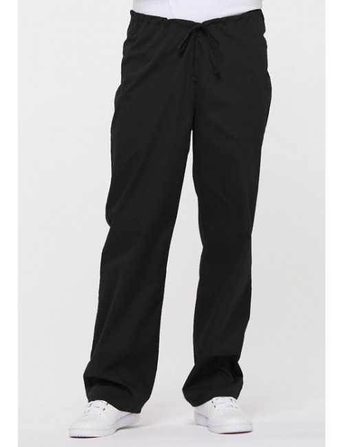 "Pantalon médical Unisexe Cordon, Dickies, Collection ""EDS signature"" (83006) noir vue face"