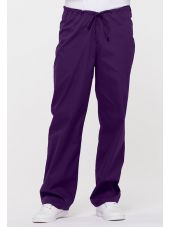"Pantalon médical Unisexe Cordon, Dickies, Collection ""EDS signature"" (83006) aubergine vue face"