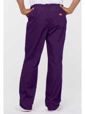 "Pantalon médical Unisexe Cordon, Dickies, Collection ""EDS signature"" (83006) aubergine vue dos"