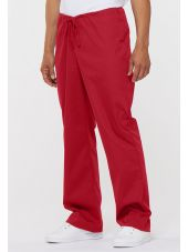 "Pantalon médical Unisexe Cordon, Dickies, Collection ""EDS signature"" (83006) rouge vue face"