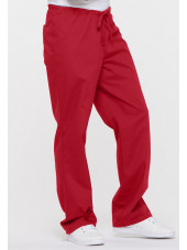 "Pantalon médical Unisexe Cordon, Dickies, Collection ""EDS signature"" (83006) rouge vue droite"