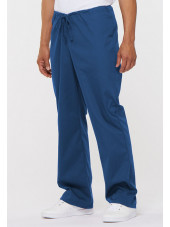 "Pantalon médical Unisexe Cordon, Dickies, Collection ""EDS signature"" (83006) bleu royal vue face"