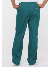 "Pantalon médical Unisexe Cordon, Dickies, Collection ""EDS signature"" (83006) teal blue vue face"