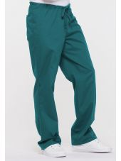 "Pantalon médical Unisexe Cordon, Dickies, Collection ""EDS signature"" (83006) teal blue vue droite"