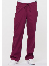 "Pantalon médical Unisexe Cordon, Dickies, Collection ""EDS signature"" (83006) bordeaux vue face"