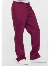 """Pantalon médical Unisexe Cordon, Dickies, Collection """"EDS signature"""" (83006) bordeaux vue droite"""