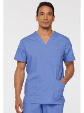 """Blouse médicale Homme, Dickies, Collection """"EDS signature"""" (81906), couleur bleu ciel vue face"""