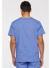"""Blouse médicale Homme, Dickies, Collection """"EDS signature"""" (81906), couleur bleu ciel vue dos"""