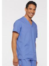 """Blouse médicale Homme, Dickies, Collection """"EDS signature"""" (81906), couleur bleu ciel vue gauche"""