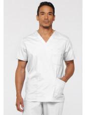 """Blouse médicale Homme, Dickies, Collection """"EDS signature"""" (81906), couleur blanc vue face"""