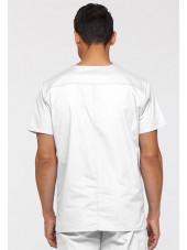 """Blouse médicale Homme, Dickies, Collection """"EDS signature"""" (81906), couleur blanc vue dos"""