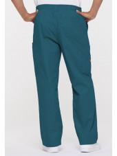 """Pantalon Médical homme, Dickies, """"EDS signature"""" (81006) vert caraïbe dos"""