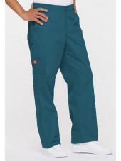"Pantalon Médical homme, Dickies, ""EDS signature"" (81006) vert caraïbe coté gauche"