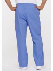 """Pantalon Médical homme, Dickies, """"EDS signature"""" (81006) bleu ciel dos"""