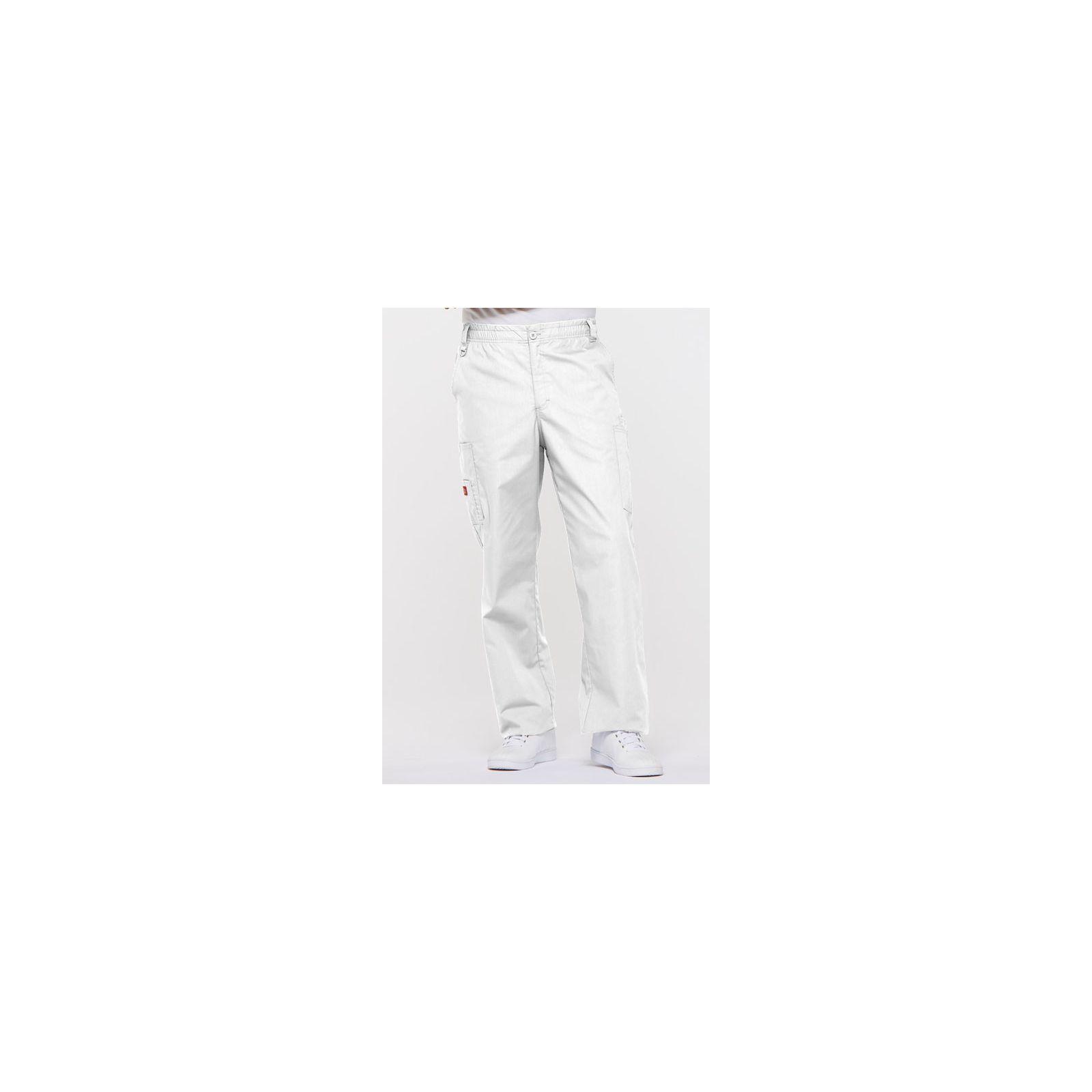 "Pantalon Médical homme, Dickies, ""EDS signature"" (81006) blanc face"