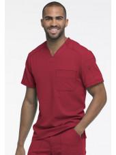 "Col V Médical homme, Collection ""Dynamix"" (DK610) rouge droite"