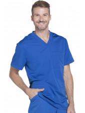 """Col V Médical homme 3 poches, Collection """"Dynamix"""" (DK640) bleu royal coté"""