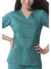 """Blouse médicale Femme Dickies, collection """"GenFlex"""" (817355) teal blue modèle"""