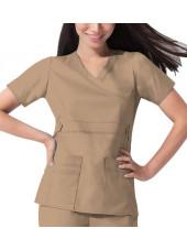 """Blouse médicale Femme Dickies, collection """"GenFlex"""" (817355) beige modèle"""