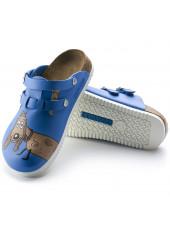 "Sabots médicaux ""Dog blue"", Birkenstock (Kay) vue semelle"