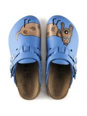 "Sabots médicaux ""Dog blue"", Birkenstock (Kay) vue dessus"