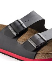 Sandales médicales Noires, Birkenstock (Arizona) vue détail