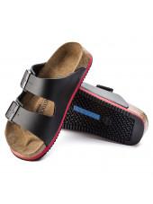 Sandales médicales Noires, Birkenstock (Arizona) vue dessous