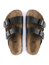 Sandales médicales Noires, Birkenstock (Arizona) vue dessus