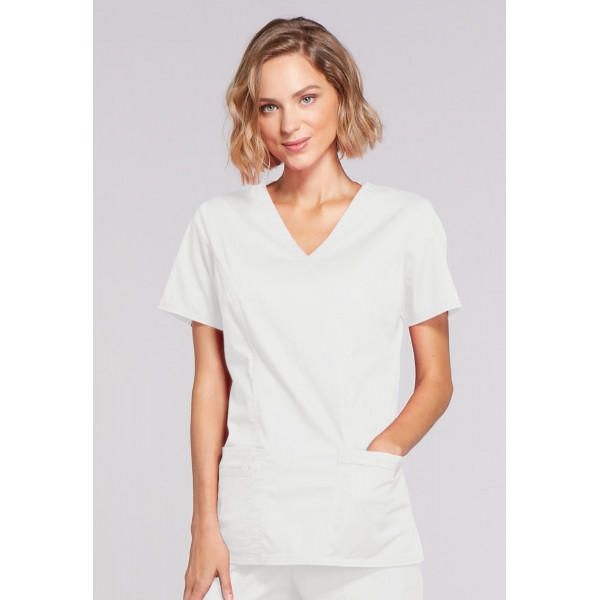 """Cache coeur femme Cherokee, Collection """"Core Stretch"""" (4728) blanc"""