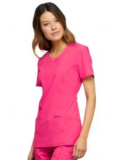 "Blouse médicale antimicrobienne col rond, Cherokee, collection ""Infinity"" (2624A)"