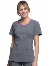 "Blouse médicale antimicrobienne col rond, Cherokee, collection ""Infinity"" (CK710A)"