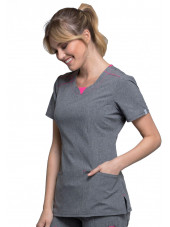 """Blouse médicale antimicrobienne col rond, Cherokee, collection """"Infinity"""" (CK710A)"""