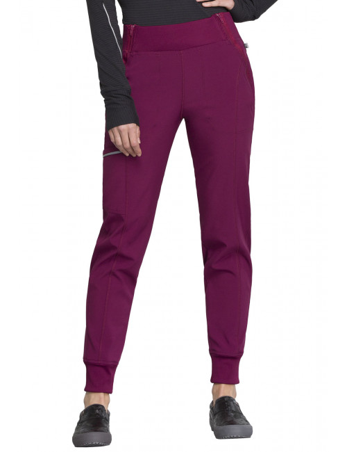 "Pantalon médical femme Cherokee, collection ""Infinity"" (CK110A) bordeaux face"