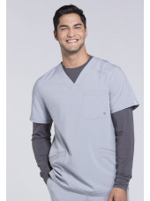 "Blouse Médicale Homme Antibactérienne Cherokee, Collection ""Infinity"" (CK900A) gris clair face"