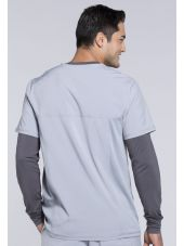 "Blouse Médicale Homme Antibactérienne Cherokee, Collection ""Infinity"" (CK900A) gris clair dos"
