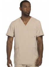 "Blouse Médicale Homme Antibactérienne Cherokee, Collection ""Infinity"" (CK900A) beige face"