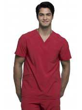 "Blouse Médicale Homme Antibactérienne Cherokee, Collection ""Infinity"" (CK900A) rouge face"