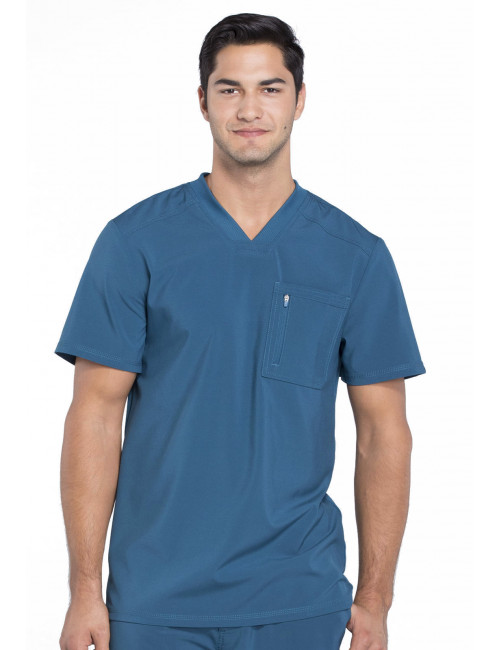 """Col V homme stretch Cherokee, Collection """"Infinity"""" (CK910A) vert caraibe face"""
