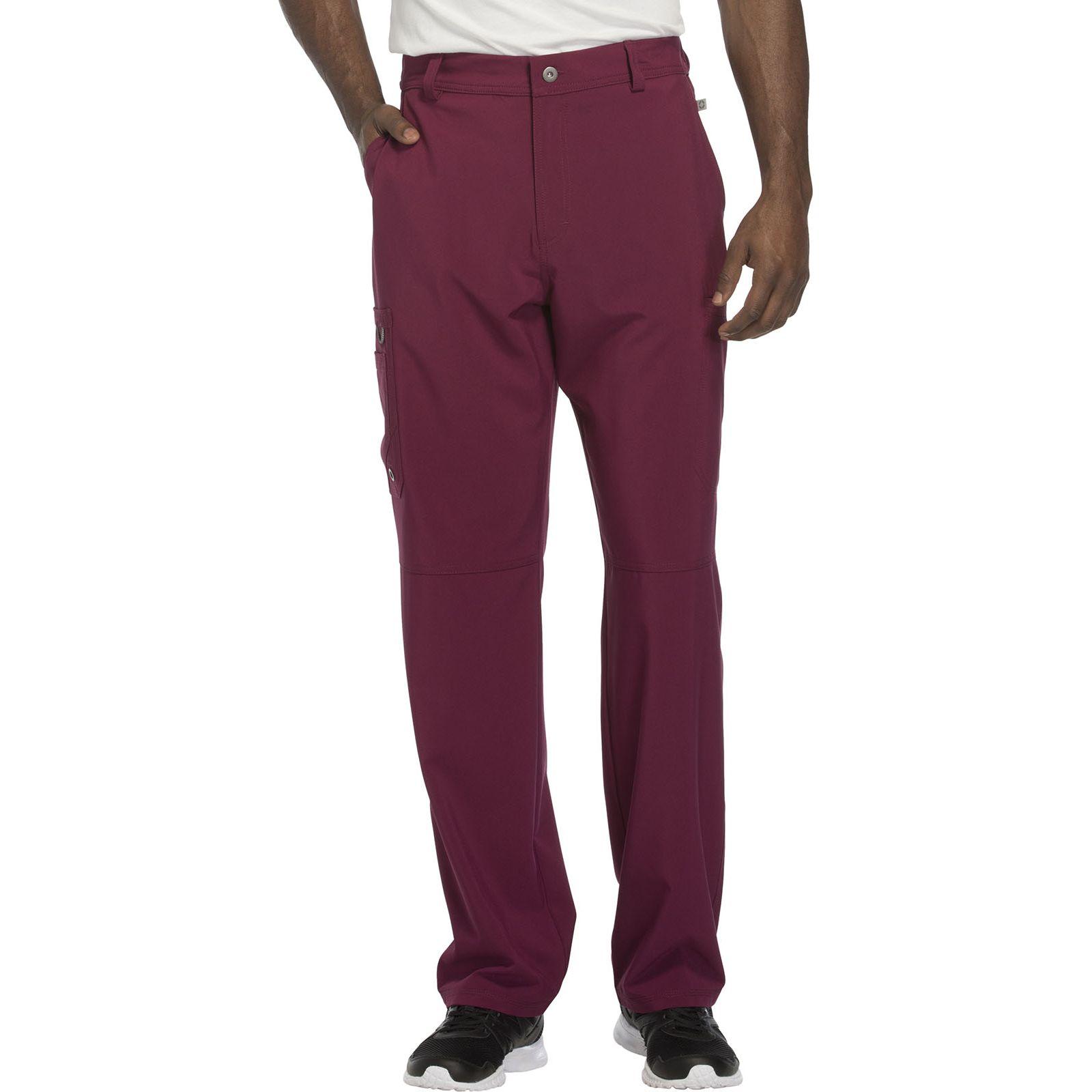 """Pantalon à bouton homme, Cherokee, Collection """"Infinity"""" (CK200A) bordeaux face"""