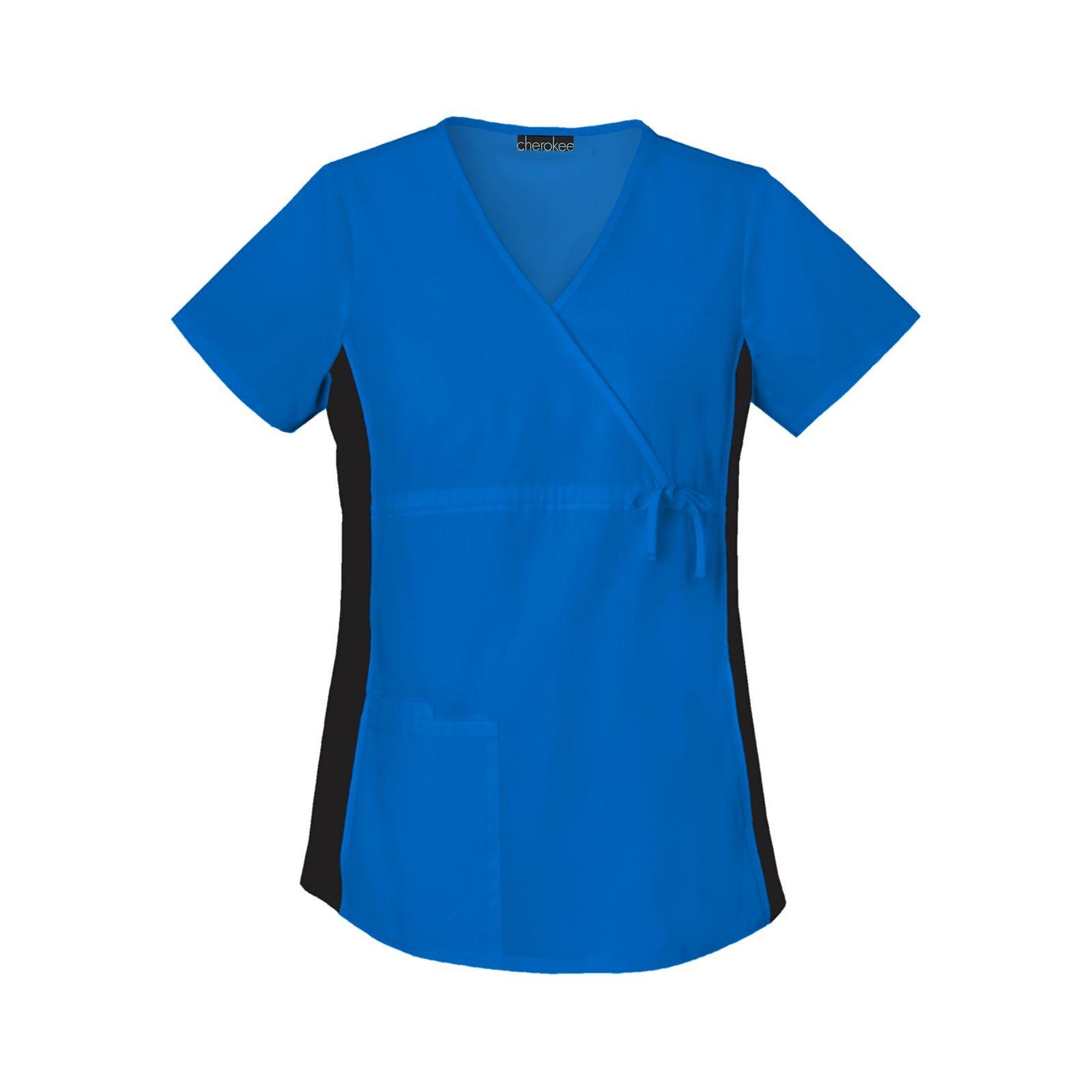 Blouse Médicale pour Femme Enceinte Cherokee (2892), couleur bleu royal vue produit