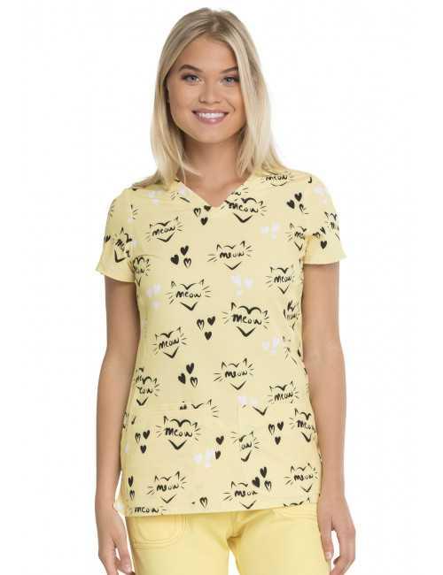 """Tunique médicale femme """"Meow"""", HeartSoul (HS614)"""
