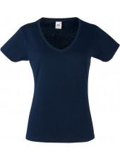 "Tee-shirt femme Col V ""Fruit of the loom"", (SC61398)"
