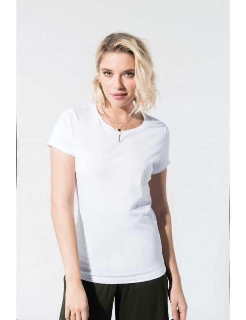 Organic cotton t-shirt round collar woman KARIBAN (K391)