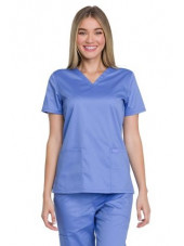 "Blouse médicale femme, Dickies, Collection ""Genuine"" (GD600) bleu ciel face"
